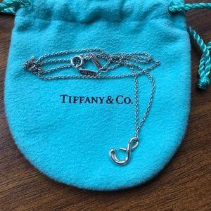 """TIFFANY & CO. Elsa Peretti Letter """"S"""" Necklace"""